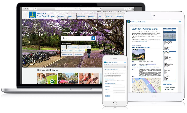 Brisbane City Council website