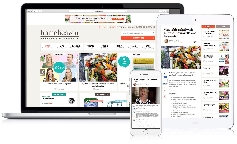 HomeHeaven website