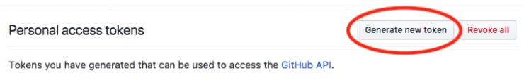 Generate GitHub Token