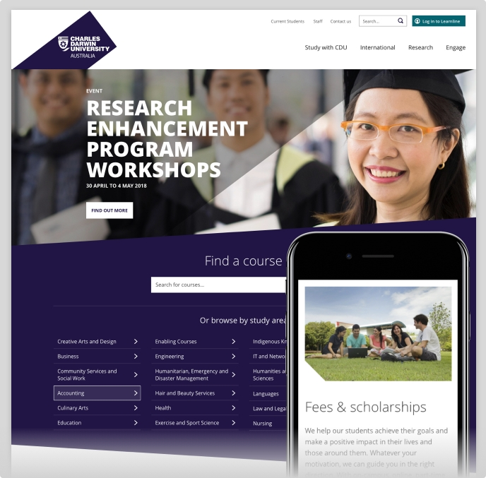 Feature image for Charles Darwin University case study