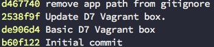 Git log output