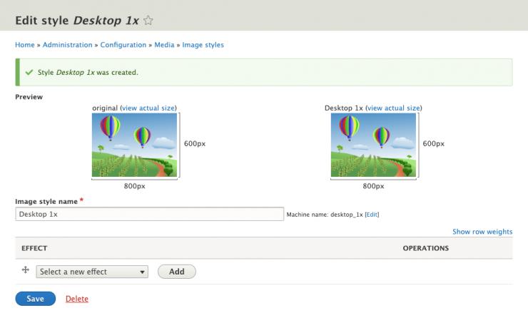 Edit Image Style UI